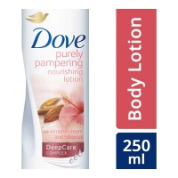 DOVE PURELY PAMPERING LOTION WITH ALMOND 250.00 ML BOTTLE