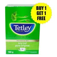 TETLEY LONG LEAF PURE ORIGINAL GREEN TEA 100 GM BUY 1 GET 1 FREE