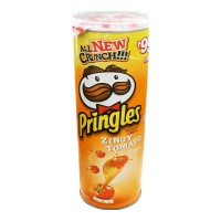 PRINGLES ZINGY TOMATO FLAVOUR POTATO CHIPS 110 GM