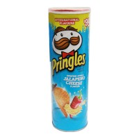 PRINGLES JALAPENO CHEESE FLAVOUR POTATO CHIPS 110.00 GM JAR