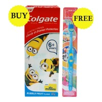 COLGATE BUBBLE FRUIT KIDS TOOTHPASTE 80GM+ KIDS SOFT TOOTH BRUSH COMBO