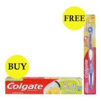 COLGATE ACTIVE SALT LEMON TOOTHPASTE 200GM+SUPER SHINE MEDIUM TB