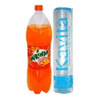 MIRINDA SOFT DRINK 2.25 LTR+ KAVITA PLAIN DISPOSALS 2.4 300 ML COMBO