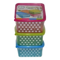JOYO FRESIA POLKA DOT CONTAINER-1 3 PCS SET 1.00 NO