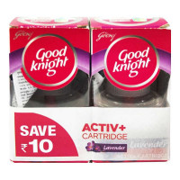 GOOD KNIGHT ACTIV+ CARTRIDGE LAVENDER 2X 45.00 ML BOX