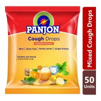 PANJON COUGH DROPS ASSORTED FLAVOURS 50.00 PCS PACKET