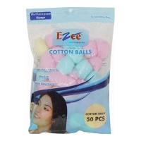 EZEE COLOURFUL COTTON BALLS 50.00 PCS PACKET