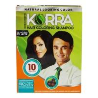 KORRA HAIR COLORING SHAMPOO 1.0 NATURAL BLACK 30.00 ML BOX