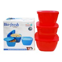 ONDOOR BIO FRESH MULTIPURPOSE 3 PCS CONTAINER SMALL BUY 1 GET 1 FREE 1.00 NO