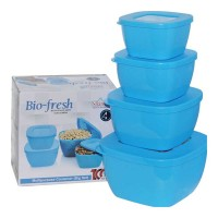 ONDOOR BIO FRESH MICROWAVE CONTAINERS BIG 4 PCS SET BUY 1 GET 1 FREE 1.00 NO