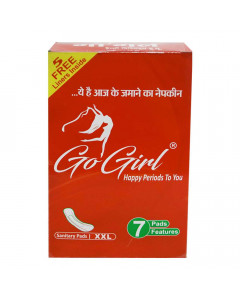 ONDOOR GO GIRL SANITARY PADS XXL 7 PCS BUY 2 GET 1 FREE 1.00 NO