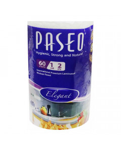 PASEO KITCHEN TOWEL 60 SHEETS 1 ROLL 1.00 NO