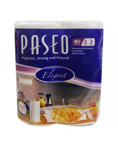 PASEO KITCHEN TOWEL 60 SHEETS 2 ROLLS 1.00 NO