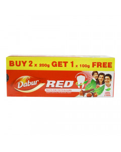 DABUR RED TOOTHPASTE 2X 200.00 GM