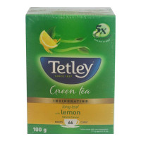 TETLEY LONG LEAF GREEN TEA LEMON FLAVOUR 100.00 GM BOX