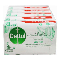 DETTOL CO-CREATED WITH MOMS TULSI SOAP 4X 125.00 GM