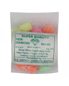 ONDOOR NEW DIAMOND NAPTHALENE COLOUR BALLS 100 GM BUY 1 GET 1 FREE