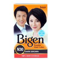 BIGEN POWDER HAIR COLOR N30 DARK BROWN 6.00 GM BOX