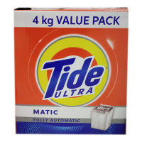 TIDE ULTRA MATIC DETERGENT POWDER 4.00 KG BOX