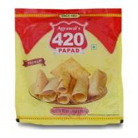 AGRAWAL 420 KHATTA MITHA CHANA PAPAD 200.00 GM PACKET