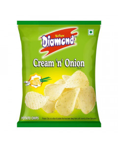 YELLOW DIAMOND CREAM N ONION CHIPS 48.00 GM
