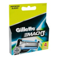 GILLETTE MACH3 4 CARTRIDGES 1.00 NO PACKET