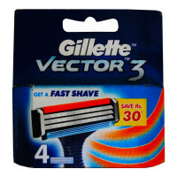 GILLETTE VECTOR3 CARTRIDGES PACK 4.00 NO