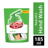 LIFEBUOY NATURE HANDWASH 3X 185.00 ML