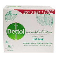 DETTOL CO CREATED WITH MOMS TULSI SOAP 4X 75.00 GM