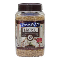 DAAWAT BROWN BASMATI RICE 1 KG JAR