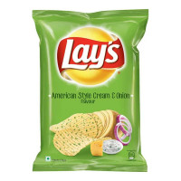 LAYS AMERICAN STYLE CREAM & ONION CHIPS 221 GM