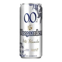 HOEGAARDEN WIT BLANCHE  NON ALCOHOLIC BEER 330.00 ML CAN