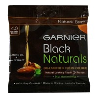 GARNIER BLACK NATURALS BROWN 4.0 HAIR COLOUR 20.00 Gm