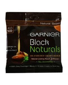 GARNIER BLACK NATURALS BROWN 4.0 HAIR COLOUR 20.00 Gm