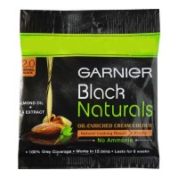 GARNIER BLACK NATURALS 2.0 ORIGINAL BLACK COLOUR 20.00 GM SACHET