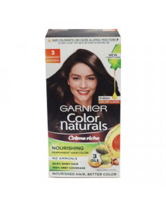 GARNIER COLOR NATURALS 3 DARKEST BROWN CREAM 67.50 ML BOX