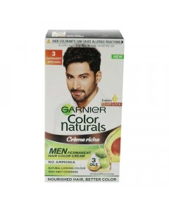 GARNIER COLOR NATURALS MEN 3 DARKEST BROWN 30 ML+ 30.00 GM BOX