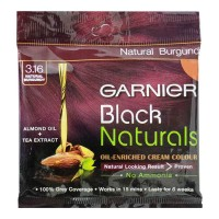 GARNIER BLACK NATURALS 3.16 BURGUNDY HAIR COLOUR 20 GM