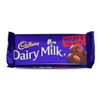 CADBURY DAIRY MILK FRUIT & NUT CHOCOLATE 80 GM