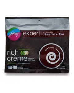GODREJ EXPERT HAIR COLOR EXPERT DARK BROWN 4.06 CREME HAIR COLOUR 20.00 GM SACHET