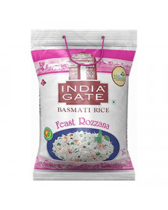 INDIA GATE FEAST ROZZANA  RICE 5.00 KG BAG