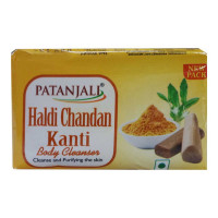 PATANJALI HALDI CHANDAN KANTI BODY CLEANSER 150.00 GM BAR