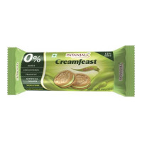 PATANJALI CREAMFEAST ELAICHI BISCUITS 84 GM PACKET