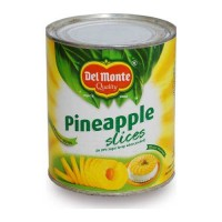 DEL MONTE PINEAPPLE SLICES 836.00 GM TIN