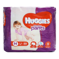 HUGGIES WONDER PANTS MEDIUM 20 PANTS 7-12 KG 1.00 NO PACKET