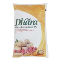 DHARA GROUNDNUT OIL 1 LTR POUCH