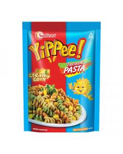 YIPPEE PASTA CREAMY CORN TRICOLOUR 65 GM PACKET