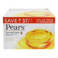 PEARS PURE & GENTLE SOAP 3X 125.00 GM BAR