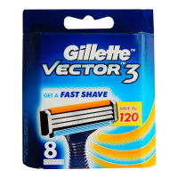 GILLETTE VECTOR3 8 CARTRIDGES PACK 1.00 NO