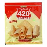 AGRAWAL 420 KHATTA MITHA CHANA PAPAD 400.00 GM PACKET
